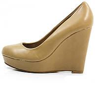 Елегантные Удобные и модные женские туфли бежевого цвета на платформе!