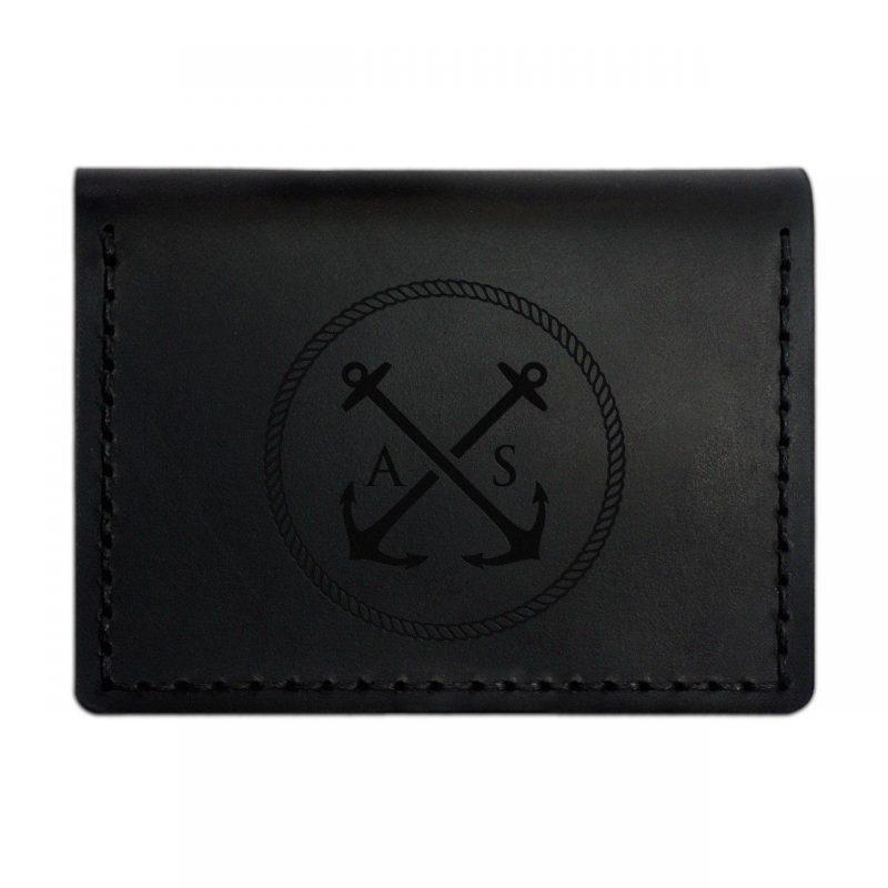 Обложка-портмоне кожаная для автодокументов и нового паспорта. Цвет черный