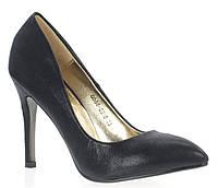 Елегантные женские туфли-лодочки черного цвета!