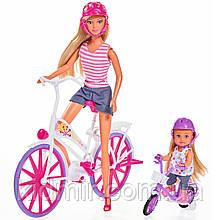 Лялька Штеффі та Еві Прогулянка на велосипедах Simba 5733045