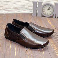 Туфли мужские комбинированные, цвет коричневый