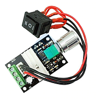 Модуль регулятора скорости двигателя постоянного тока 3А с переключателем
