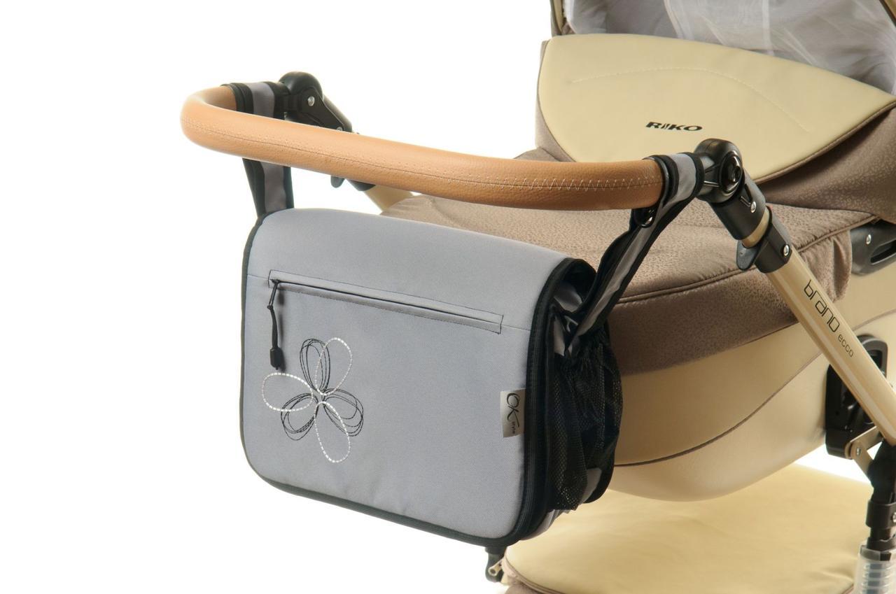 Сумка на коляску Ok Style Цветок Серый