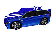 Детская кровать машина ДЖИП BMW с матрасом, мягким спойлером и подушкой. Доставка БЕСПЛАТНО!!!