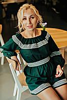 Льняной женский комбинезон , фото 1