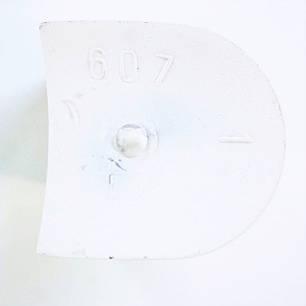 Каблук женский пластиковый 607 белий р.1-2  h- 5,2-5.4 см., фото 2