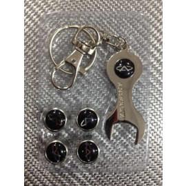 Колпачки на ниппель в блистере (4 шт.+ ключ) CHERY