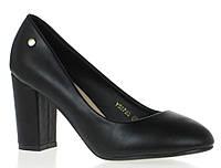 Чрезвычайно стильные Удобные и модные женские туфли черного цвета на каблуке!