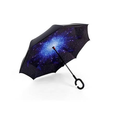 Зонт наоборот Up Brella Звездное Небо (Космос), фото 2