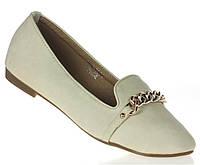 Стильные балетки, лодочки туфли , туфли, на плоской подошве от производителя бежевого цвета! размеры 37-39