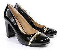 Стильные Удобные и модные женские туфли черного цвета на удобном каблуке!