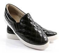Стильные женские лаковые слипоны черного цвета! Очень легкие и удобные!! размеры 36-41