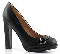 Стильные Удобные и модные женские туфли черного цвета на высоком каблуке!