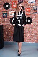 Плаття жіноче: Каріна льон синій