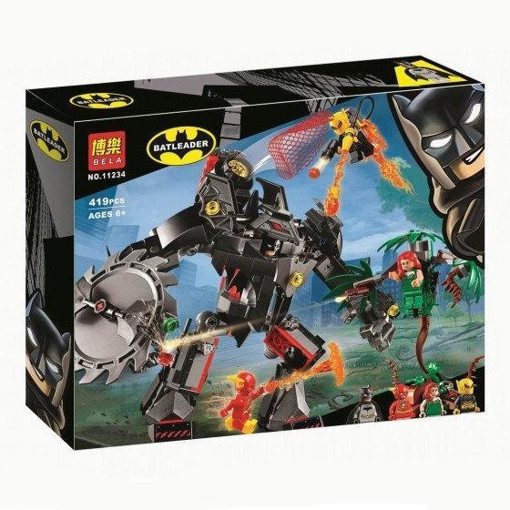 """Конструктор Bela 11234 """"Робот Бэтмена против робота Ядовитого Плюща"""", 419 деталей. Аналог Lego 76117"""