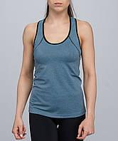 Майка жіноча спортивна блакитний-меланж розміри M, XL
