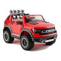 Детский электромобиль на аккумуляторе Cabrio LONG EVA с пультом управления и музыкой МР3 Красный