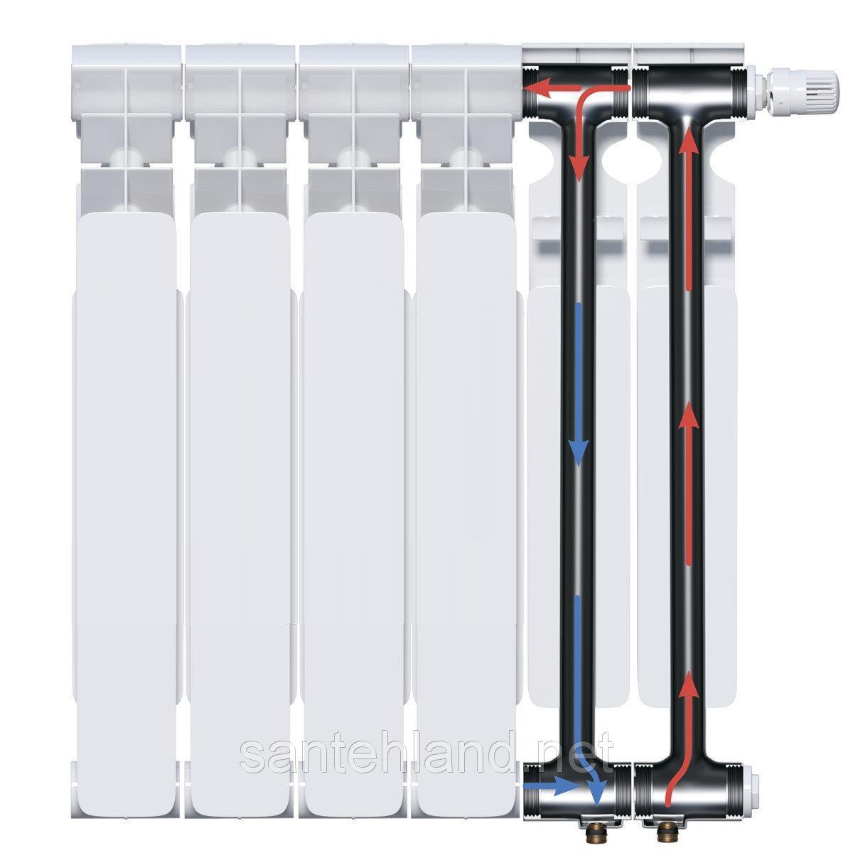 Радиатор Биметаллический Titan Marek 500x96 С Нижним Подключением 16 Секций