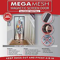 Москитная штора на дверь Магнетик Меш, Magnetic Mesh