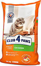 Сухий корм Клуб 4 Лапи Преміум 14 кг для дорослих кішок з куркою