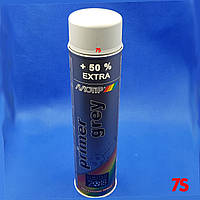 Аэрозольный грунт, акриловый по металлу, спрей, серый - Motip Spray Primer Grey, 600 мл
