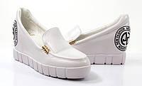Стильные спортивые Удобные и модные женские туфли на платформе белого цвета!