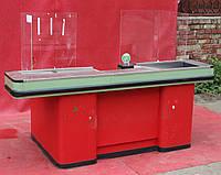 Кассовый бокс c узким накопителем 210х115 см., (Украина), зеленый, Б/у , фото 1