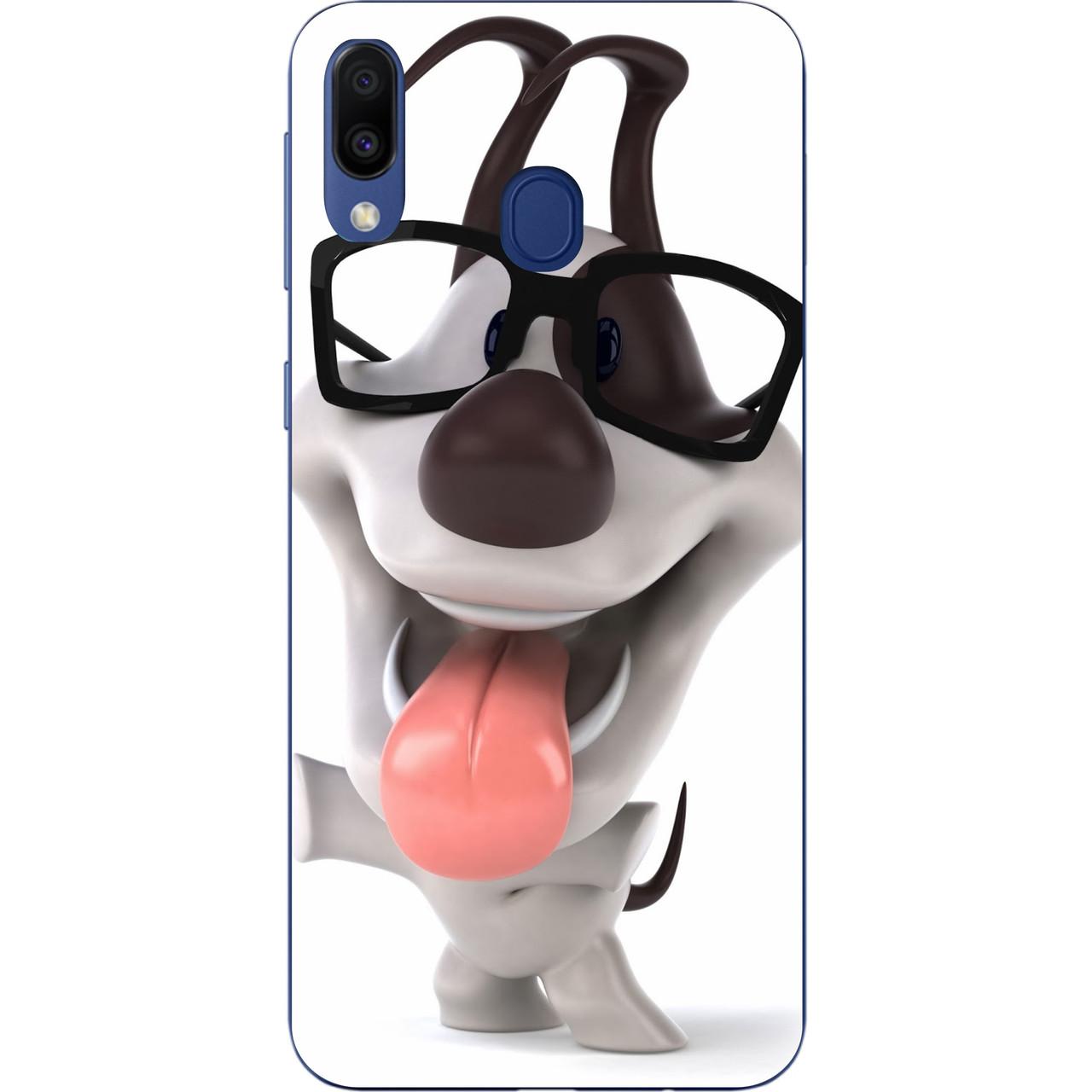 Силиконовый чехол для Samsung Galaxy A20 2019 A205F с картинкой Собака