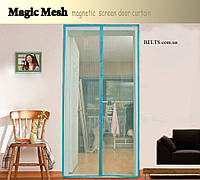 Дверная москитная сетка на магнитах Magnetic Mesh, Магнетик Меш (размер 210 * 100 см.), фото 1
