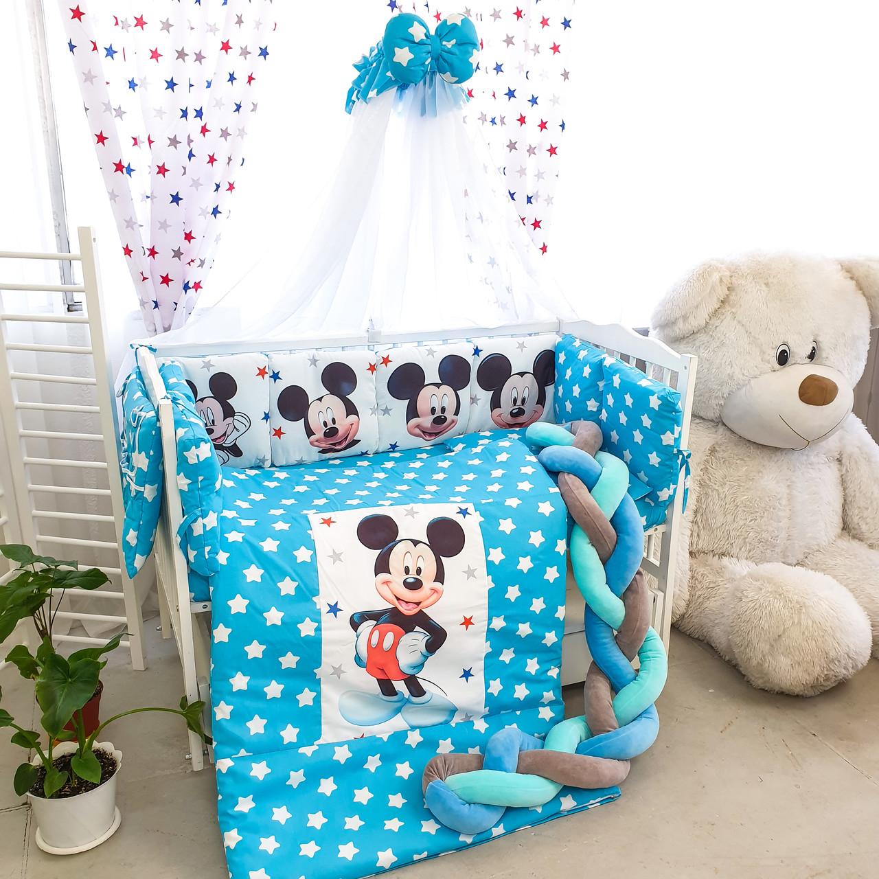 Дитяча постіль Ніжний Велюр Міккі 8 елементів (кольори в асортименті)Безкоштовна доставка