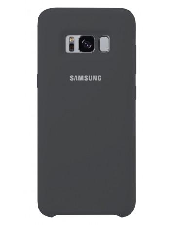 Чехол Silicone case для Samsung Galaxy S8 - S8+ Темно-серый
