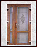 Металлопластиковые двери входные 960 с окном, фото 3