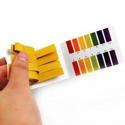Лакмусовая бумага (рН-тест) 1-14 рН 80 полосок для человека и измерения рн в косметики (mdr_5065)