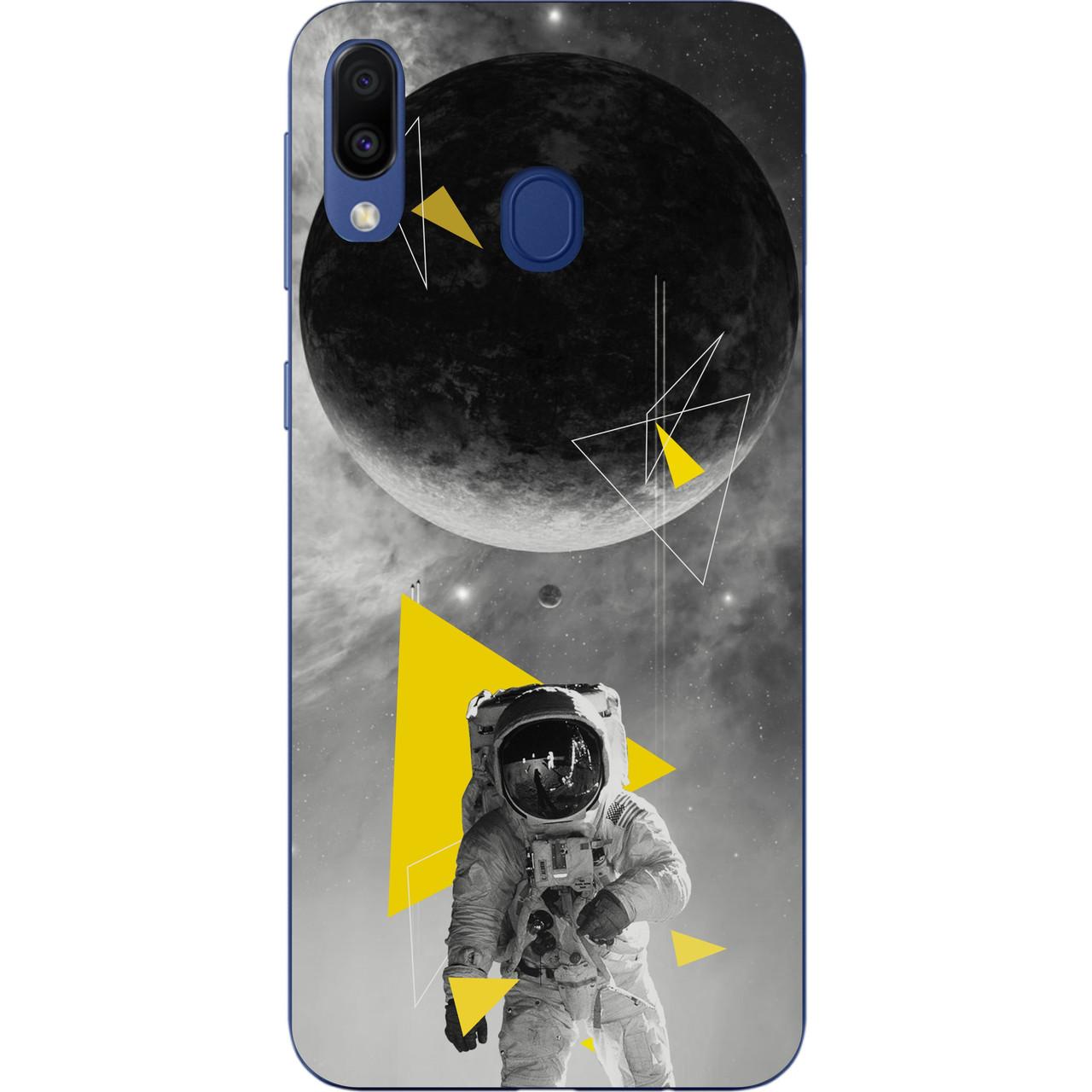 Силиконовый чехол для Samsung Galaxy A20 2019 A205F с картинкой Астронавт