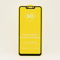 Защитное стекло 9D Full Glue для Huawei Mate 20 Lite полноэкранное черное