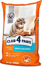 Сухий корм Клуб 4 Лапи Преміум 14 кг для дорослих кішок з лососем