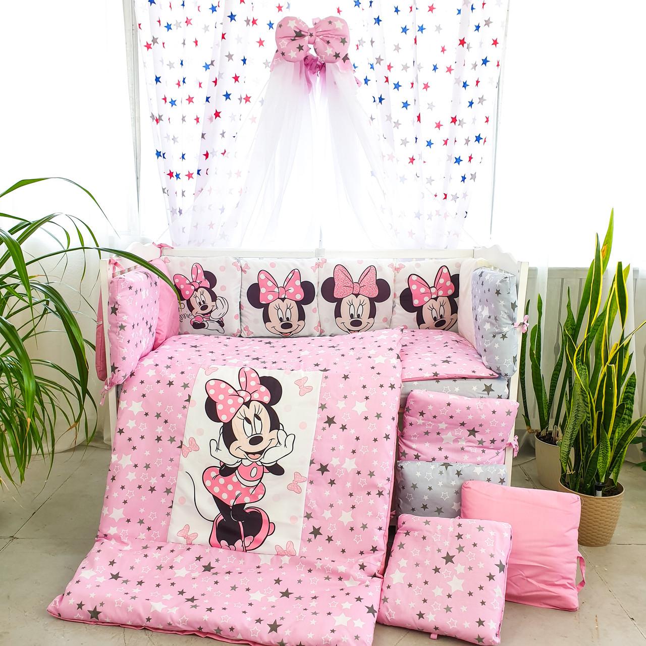Детская постель Подушки стандарт Мини4 розовая 8 элементов (цвета в ассортименте)Бесплатная доставк