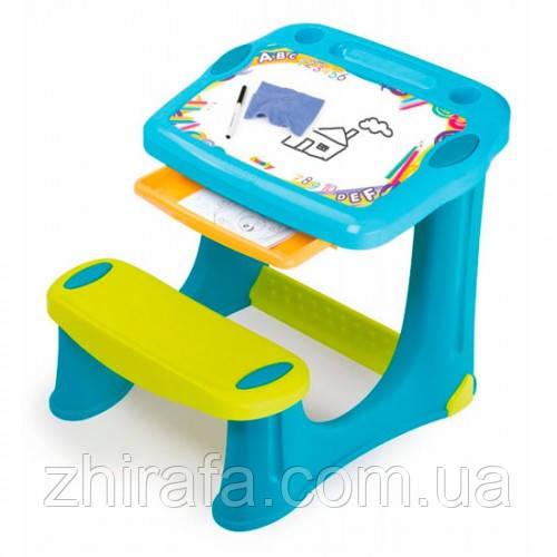 Парта мольберт Школьник, детская мебель Smoby
