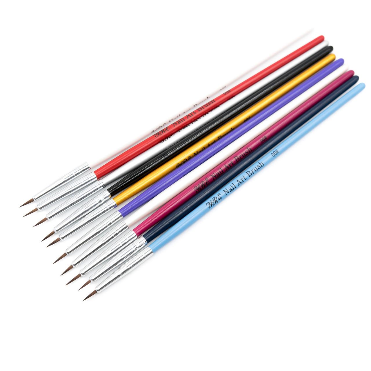 Кисть для дизайна цветная ручка