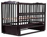Детская кроватка Babyroom Веселка из бука с маятником и откидным боком, фото 3