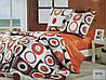 Сатиновое постельное белье евро ELWAY 3775 «Абстракция» - Фото