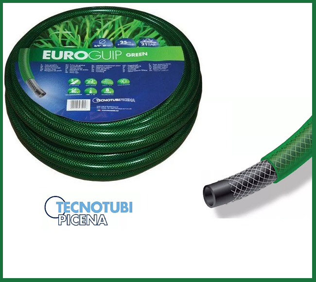 Шланг поливочный Tecnotubi Euro GUIP GREEN 1/2 50 м