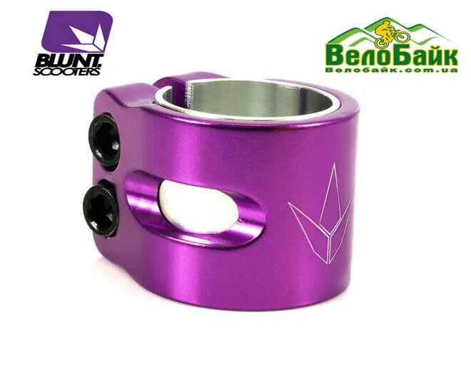 Зажим на трюковий самокат Blunt Twin Slit OVERSIZED Purple 2болти фіолетовий COS2BPE