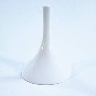 Каблук женский пластиковый 7047 белый р.1,3  h-6,7 , 7,3см., фото 2