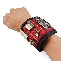 Магнитный браслет для инструментов 15*9см STENSON Красный