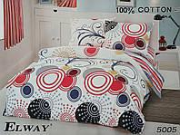 Сатиновое постельное белье евро ELWAY 5005 «Абстракция»