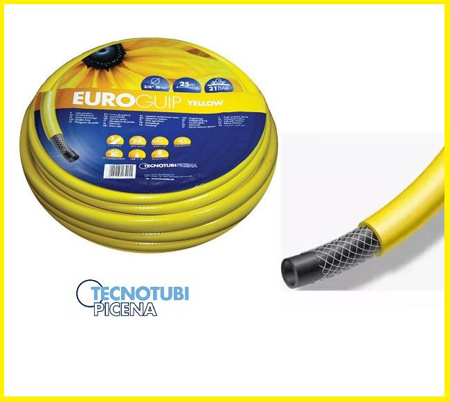 Шланг поливочный Tecnotubi Euro GUIP YELLOW 1/2 25 м