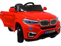 Детский электромобиль на аккумуляторе Cabrio B12 EVA с пультом управления и музыкой МР3 Красный, фото 1