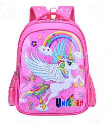 Рюкзак школьный Единорог 1-4 класс для девочки розовый