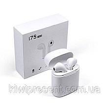 Беспроводные наушники с кейсом TWS I7 White (блютуз гарнитура), фото 2